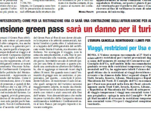 «Estensione green pass sarà un danno per il turismo»